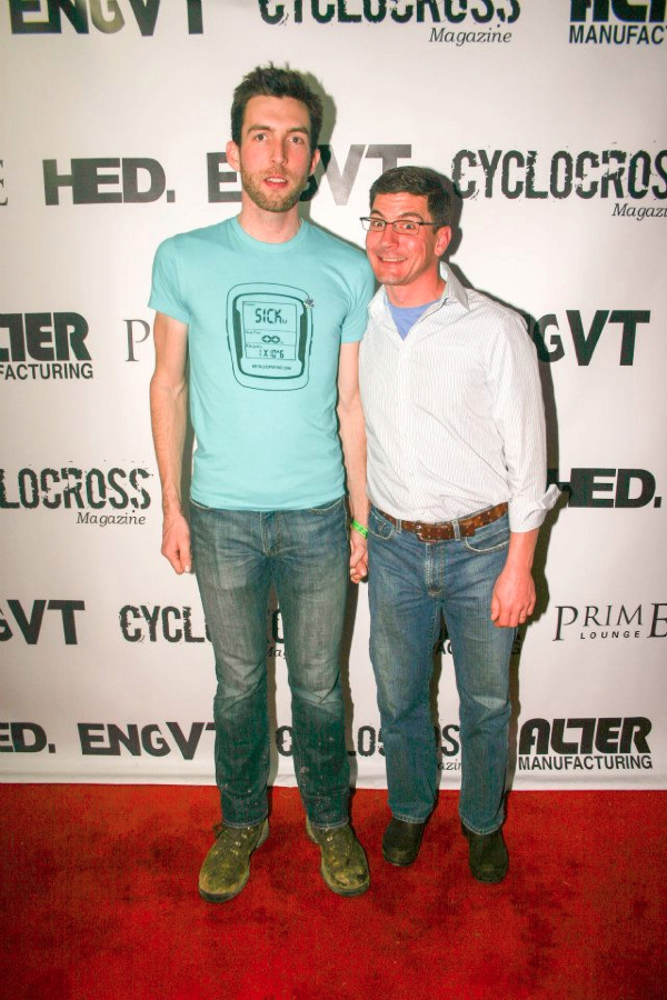 Ryan Kelly and Page\'s sponsor Jerry Chabot at the Louisville 2013 Foam Party. © William Huston