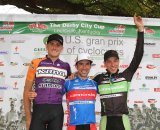 Trebon, Johnson and Powers on the podium for Day 1 © Amy Dykema