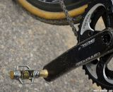 Crank Bros Eggbeater 11 pedals on Mackenzie Woodring's Barry Roubaix-winning Foundry Auger. © Cyclocross Magazine