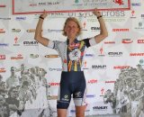 Sue Butler received the most aggressive female rider award from SRAM © Amy Dykema