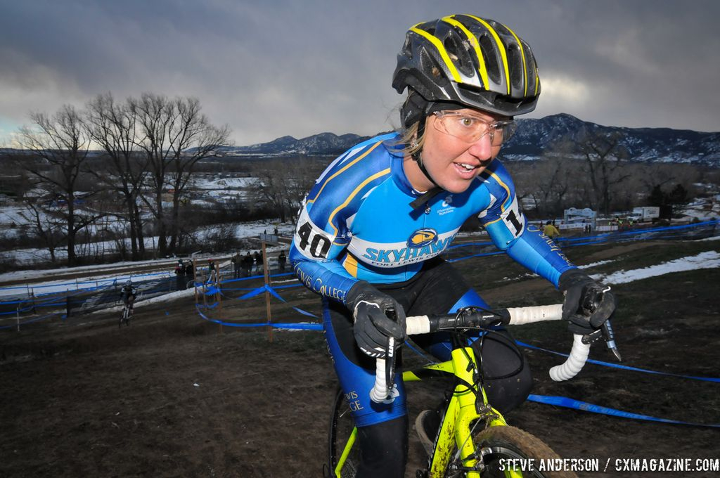 Fort Lewis in the first ever Collegiate Relay at the 2014 National Cyclocross Championships. © Steve Anderson