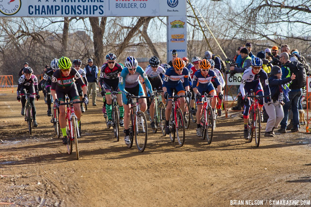 The Masters Women\'s 35-39 start. © Brian Nelson