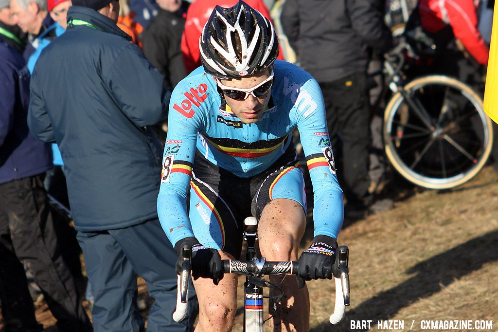 Niels Albert flatted early in the race and probably didn\'t had h