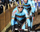 Kevin Pauwels leading the chase of Stybar and Nys.