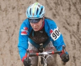 Wheels sliced and splashed through mud puddles at Raceway CX. © Karen Johanson