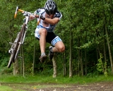 Jump for joy! Cyclocross season is here. © Karen Johanson