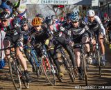The Elite Men's start at the 2014 Cyclocross Nationals in  Boulder, CO