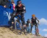 Danny Summerhill concntrates hard on keeping his inside line during the 2014 Cyclocross Nationals in  Boulder, CO