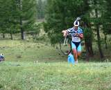 Running and shouldering are skills that the Mongolian Team have developed. Photo: Courtesy Tom Lanhove