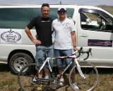 Museeuw (r) provided bikes and contacts for the new team. Photo: Courtesy Tom Lanhove