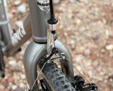 The Moots PsychloX RSL comes with Moots' own cyclocross fork, and a fork-mounted cable hanger to avoid any chance at fork chatter.  © Cyclocross Magazine