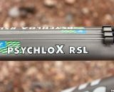 The Moots PsychloX RSL features top tube cable routing on a flattened, shaped top tube.  © Cyclocross Magazine