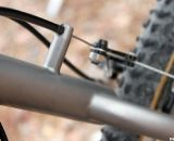 Moot's simple rear cantilever cable hanger. © Cyclocross Magazine