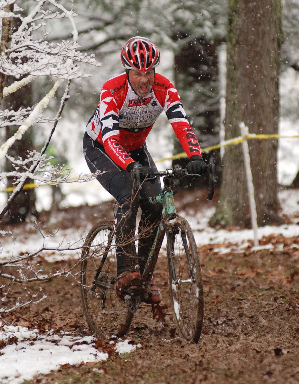 Some riders did their best to ride the runup. ? Bart Nave