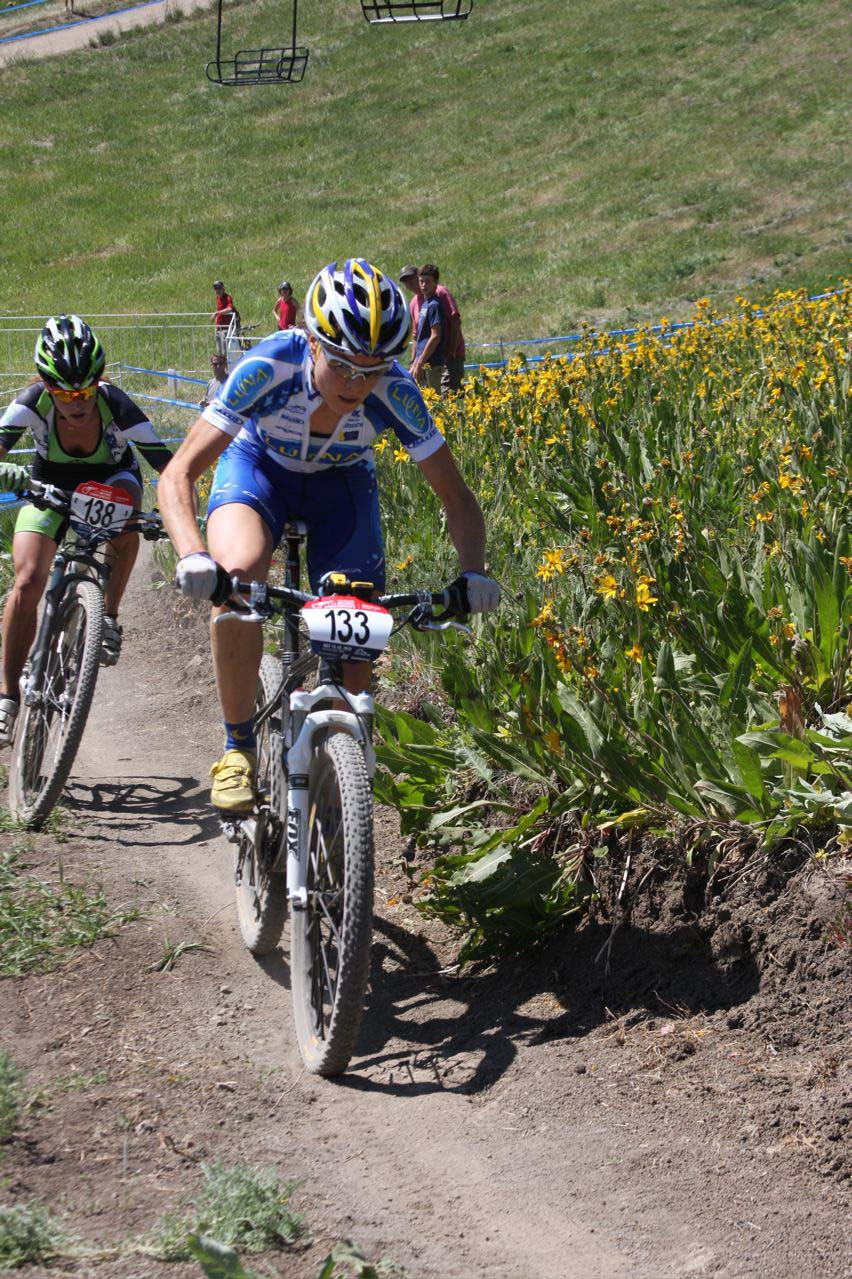 Gould starts pulling away from Koerber © Amy Dykema