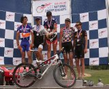 The Elite men's podium, with plenty of 'crossers © Amy Dykema