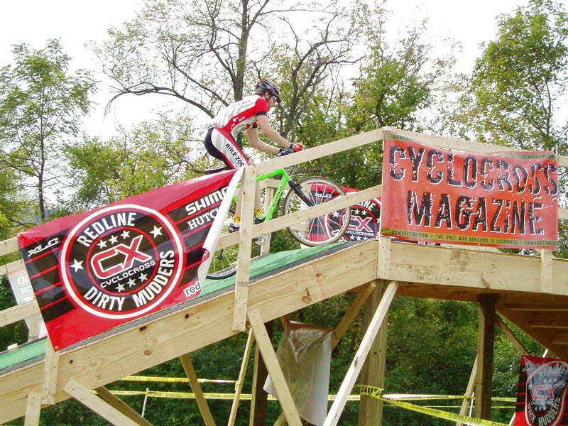 The fly-over showcased rider's power and beloved sponsors.
