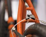 Closeup look at the rear brake hanger on the Calletti. ©Cyclocross Magazine