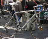 Caletti's new titanium, disc and Di2-equipped cyclocross machine. NAHBS 2012. ©Cyclocross Magazine