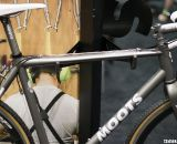 Moots Titanium PsychloX RSL features Moots' own fork and ti stem and seatpost. NAHBS 2012. ©Cyclocross Magazine