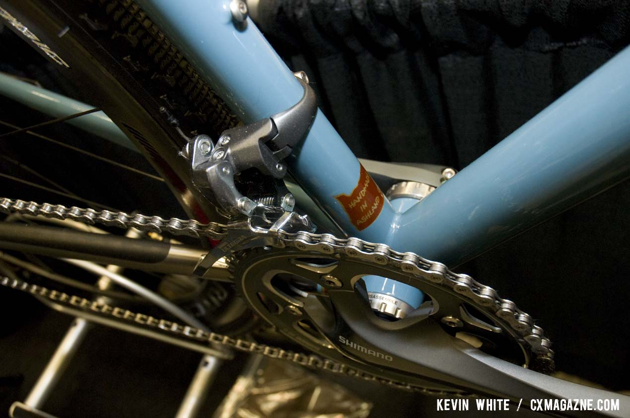 DeSalvo bicycles are made in Ashland, Oregon by Mike DeSalvo who specializes in TIG welded steel and titanium frames. © Kevin White
