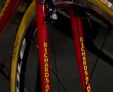 Richard Sachs' name is displayed prominently on the fork blades. © Kevin White