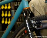 SyCip's show bike includes Shimano's CX70 cantilever brake and a Ritchey carbon cyclocross fork. © Kevin White