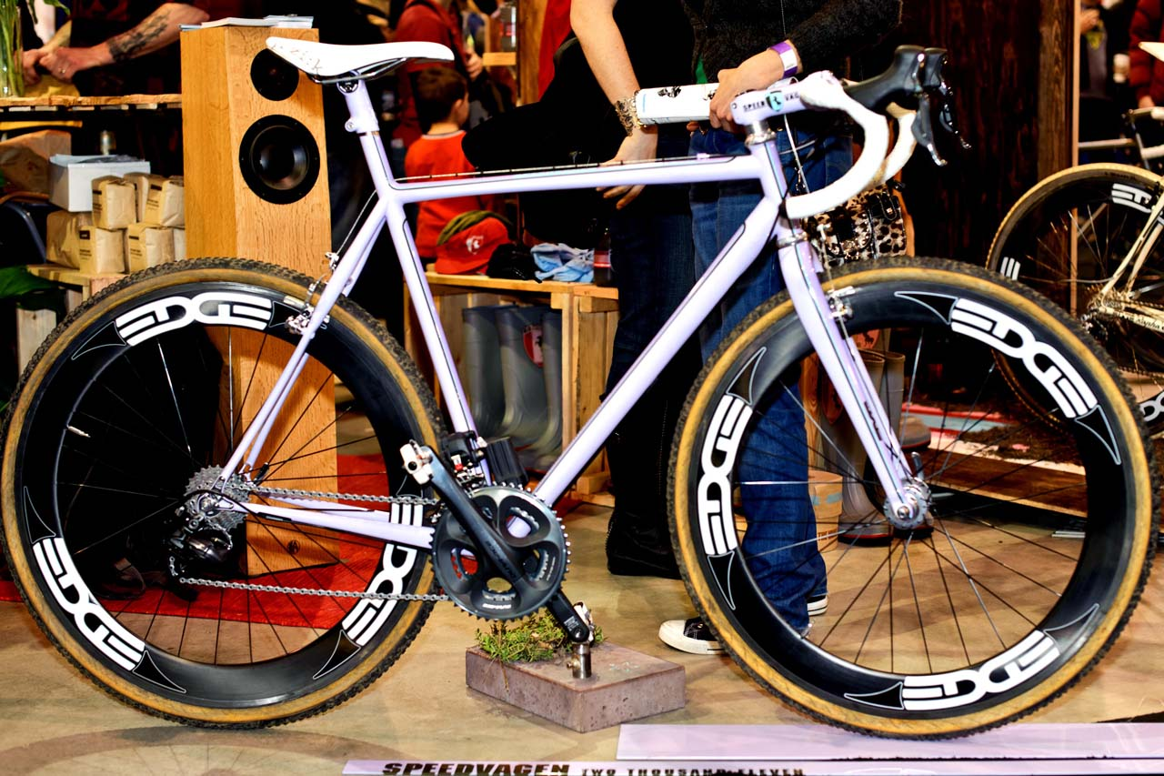 Another shot of the Speedvagen Di2 bike. ? Bill Schieken/www.cxhairs.com