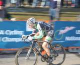 Powers drilling it through the start/finish. ? Cyclocross Magazine