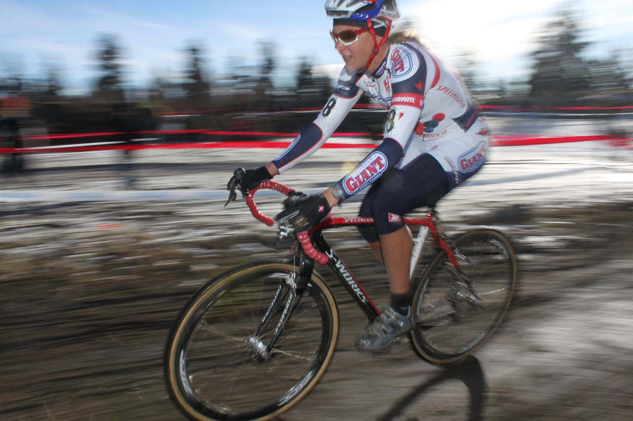 Meredith Miller rode strong and steady all race long to finish second. ? Cyclocross Magazine
