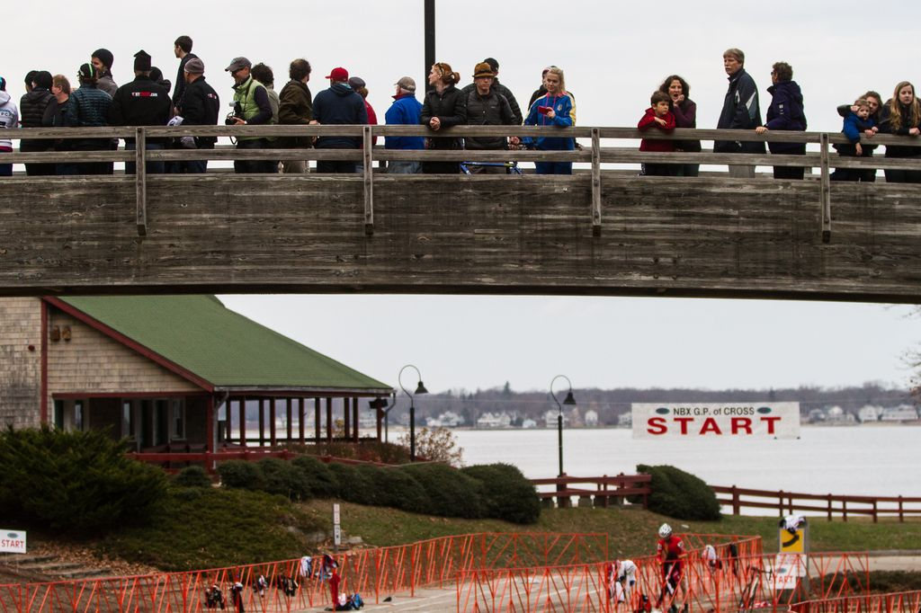 Spectators gathered to await the exciting conclusion of the race. © Todd Prekaski