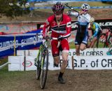 Shawn Milne heads up the charge in the Elite Men's race. © Todd Prekaski