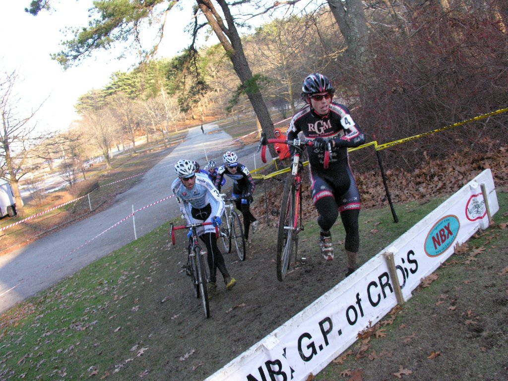 Josh Dillon leads Adam Myerson over the barriers ? Paul Weiss