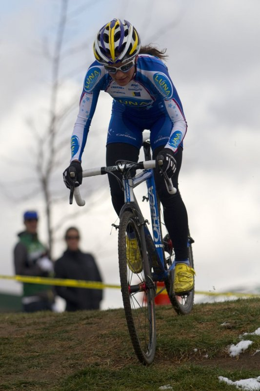 Katerina Nash took the win close to her Truckee home. NCNCA 2010 Cyclocross Districts. © Tim Westmore