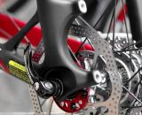 Disc brakes on the Jamis Supernova Team. © Cyclocross Magazine