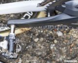 Niels Albert ops for the discontinued Shimano XTR M970 SPD pedals for less shoe/pedal interferance problems with mud. © Cyclocross Magazine