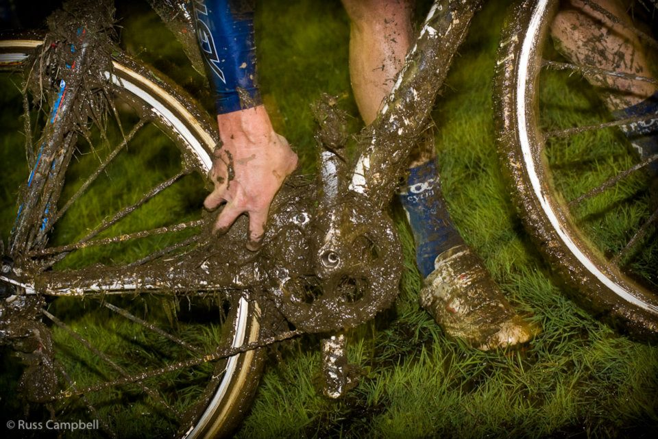 A very muddy post-race bike. © Russ Campbell