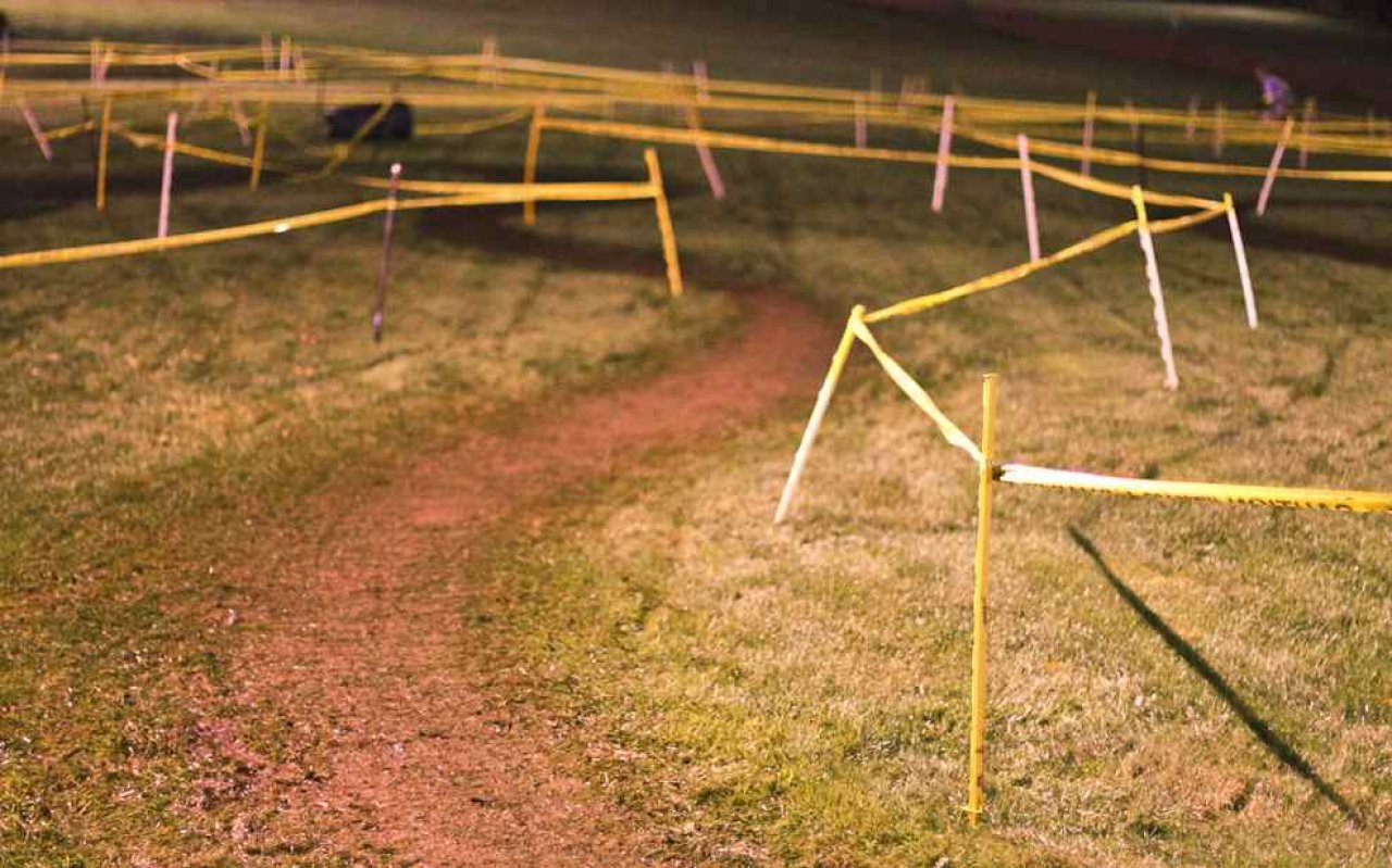 Slick mud under the lights at The Weasel © Chris Gagne