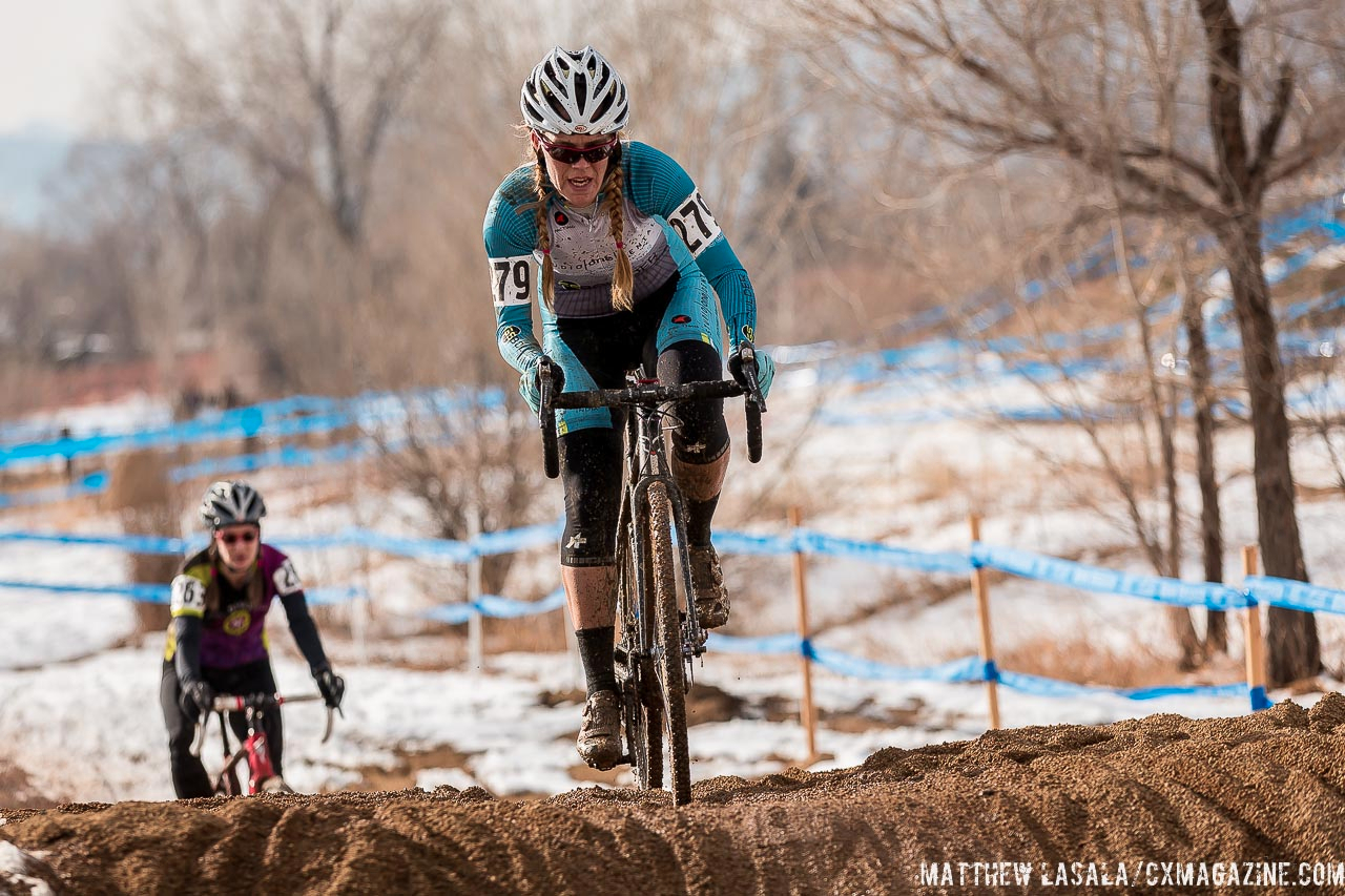 Lorno Pomeroy from Boulder got to race on her home course. © Mathew Lasala