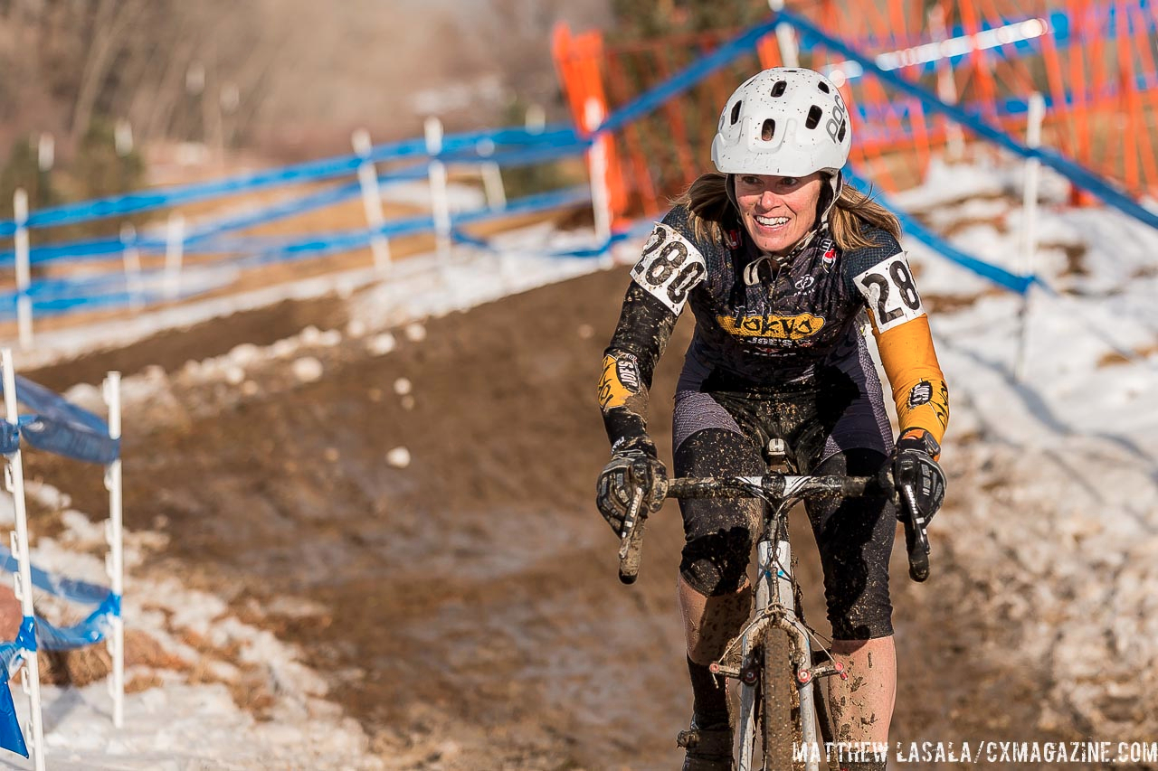 Heather Szabo is all smiles, finishing in 11th. © Mathew Lasala