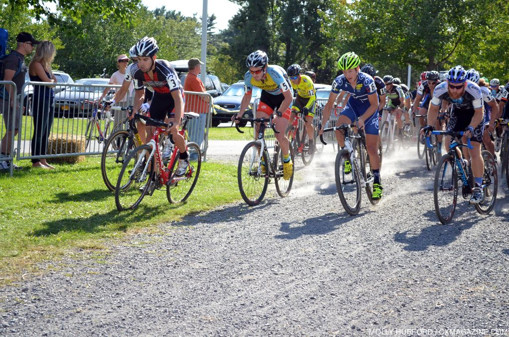 The men\'s start at Nittany Lion Cross Day 1. © Cyclocross Magazine