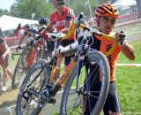 Weston Schempf with Wells hot on his heels at Nittany Lion Cross Day 1. © Cyclocross Magazine