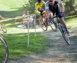 The second corner and steep uphill at Nittany Lion Cross Day 1. © Cyclocross Magazine