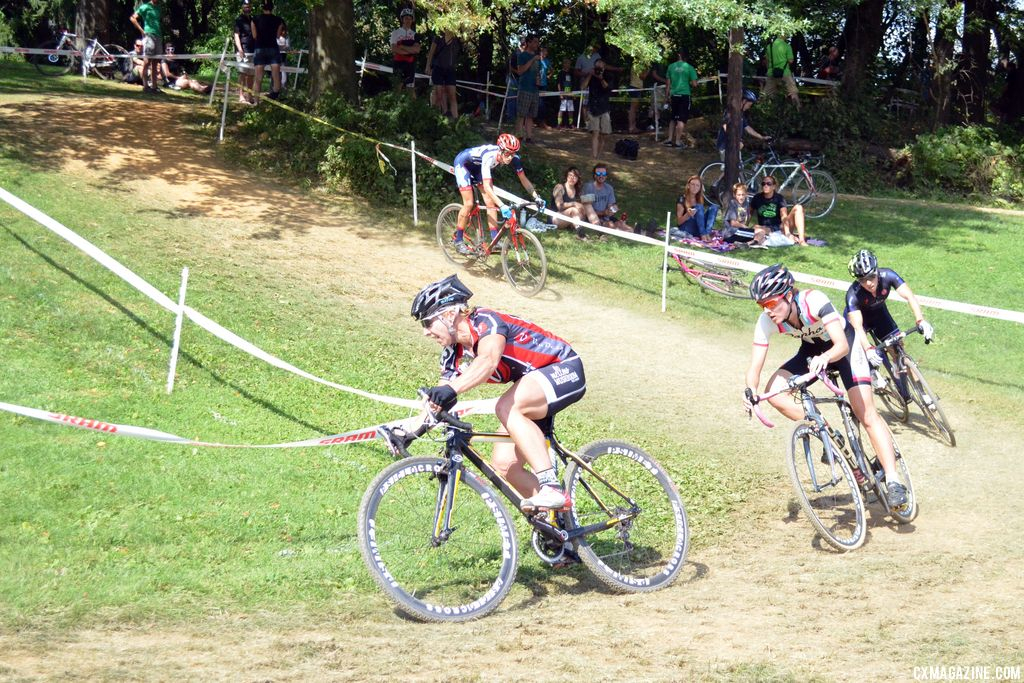 Van Gilder leads the women at Nittany Lion Cross Day 2 2013. © Cyclocross Magazine