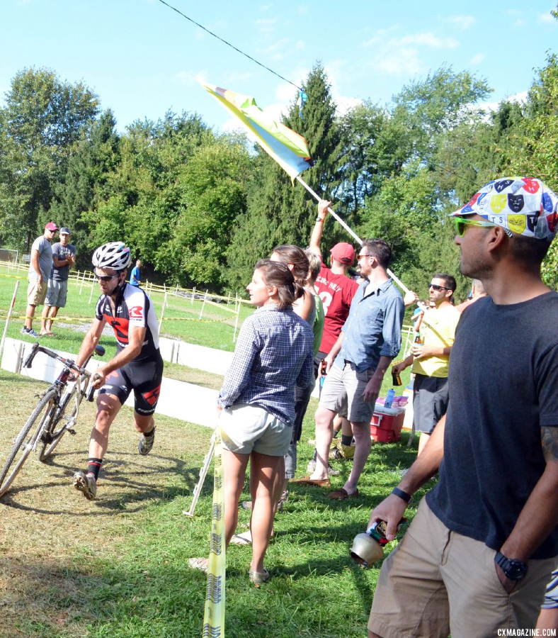 The heckle crew at Nittany Lion Cross Day 2 2013. © Cyclocross Magazine
