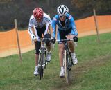 Gabby Day leads Hanka Kupfernagel ©Renner Custom CX Team