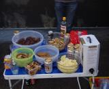 The Vardaros spread at the post-race party. ? Jonas Bruffaerts