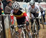 Sanne Cant was one step behind Van den Brand on both podiums in Oostmalle. ? Bart Hazen