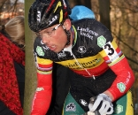 Sven Nys was forced to make up a lot of ground after a slow start. ? Bart Hazen
