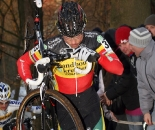 Nys found himself shouldering the bike more as the race went on. © Bart Hazen